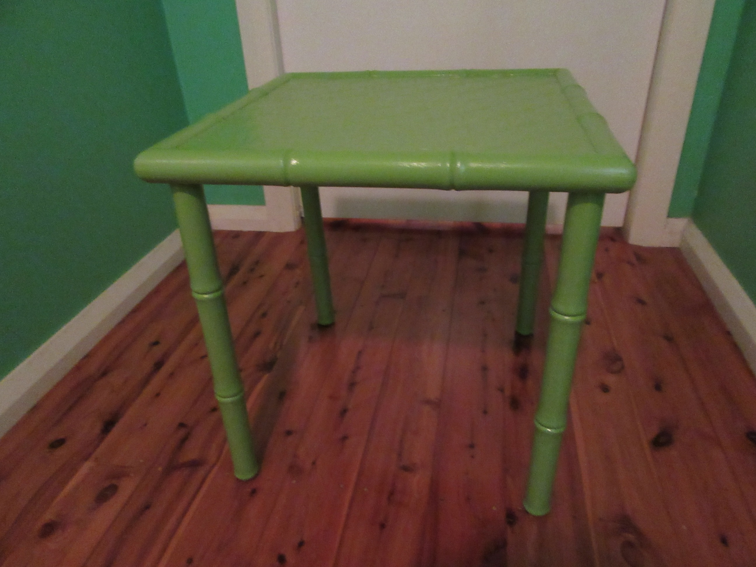 Side Table Faux Bamboo