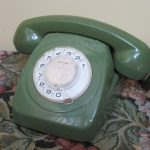 Retro Phone Rotary Dial Australia Telecom 802 ACF Green 1960s