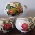 Portmeirion Pomona Breakfast Cups 1980s Fruit 3