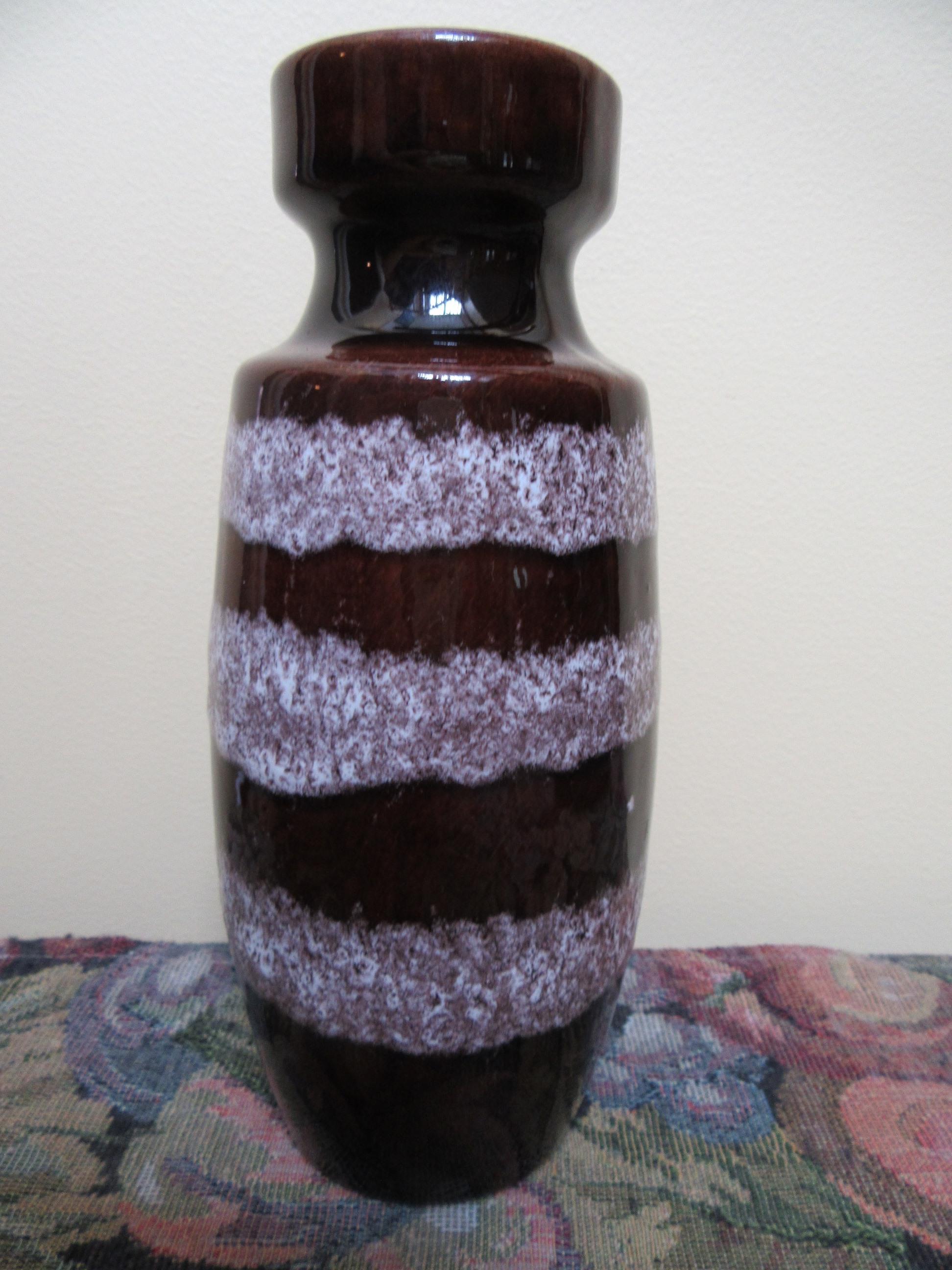 Scheurich vase brown white 210 18 west germany 1960s scheurich vase reviewsmspy