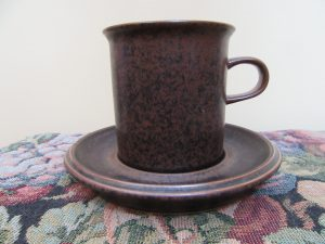 Arabia Ruska Coffee Mug & Saucer