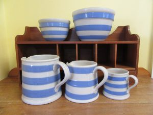 Bakewells Striped Jugs & Bowls