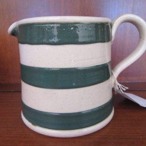 Bakewells Jug Green Striped