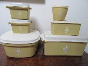 1980s Harvest Gold Tupperware