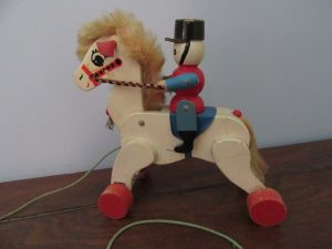 1940 Pull Toy Horse & Soldier