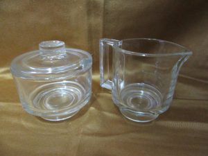 Joe Colombo Glass Creamer and Sugar