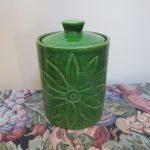 Aldo Londi Bitossi Canister Italy Lidded Jar Green 1960s