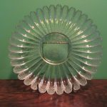 Glass Sunflower Plate Heavy Scandinavian Humppila ??