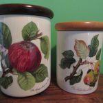 Portmeirion Pomona Canisters 1980s Fruit 2