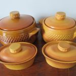 Diana Nefertiti Casserole Dishes Lidded Set 4 1960s Australia