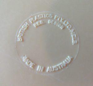 British Plastics Back Stamp