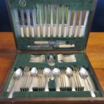 Viner & Hall Silver Plate Cutlery Canteen Sheffield Faux Bone 1930s 53 Piece