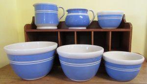 Bakewells Blue Jugs & Bowls