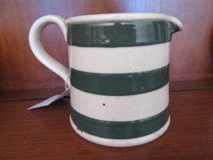 Bakewells Green Striped Jug