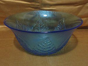 Kosta Boda Blue Leaf Bowl