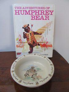 1980s Humphrey Bear Bowl & Book