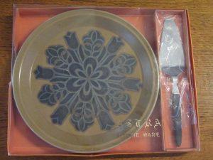 Astra Stoneware Cake Plate