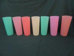 1960s Pastel Tupperware Tumblers
