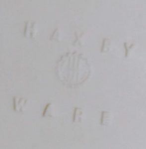 Haxby Ware Back Stamp