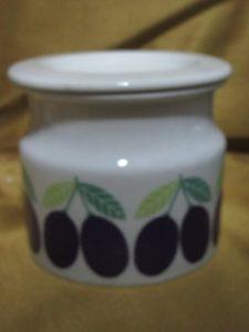 Arabia Raspberry Jam Pot