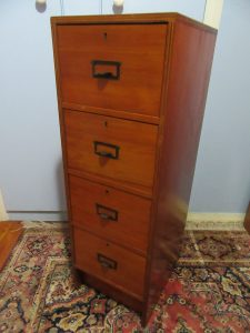Card File Cabinet 1950s