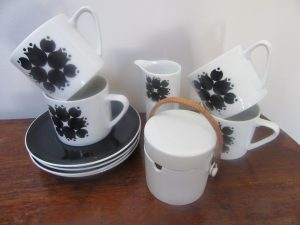 Kelco Japan Black Tulip Coffee Set