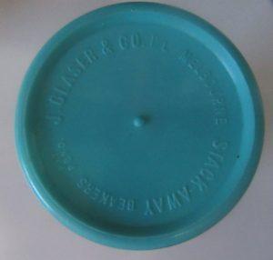 J Glaser & Co Back Stamp