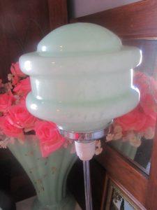 1950s Green Mottled Glass