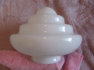1950s White Glass Light