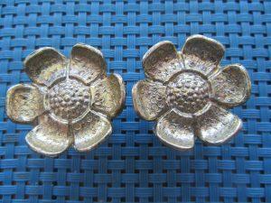 Metal Flower Knobs 1970s