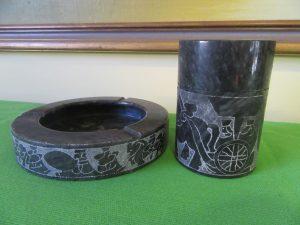 Black Marble Smoking Set