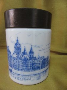 Milk Glass Canister